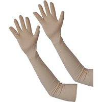 Set of 2 Beige Arm Sleeves Elbow Sleeves Full Hand Cooling Sun Protection Cover 1 Pair