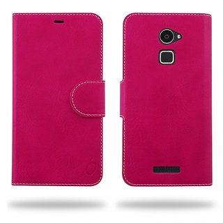 Cool Mango Compact Flip Cover for CoolPad Note 3 Lite (Hot pink)