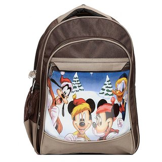 Raeen Plus Mikyrat-M7 Brown And Light Brown School Bag