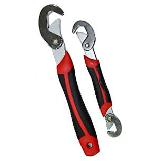 Snap N Grip Red Steel Multipurpose Wrench - Set Of 2