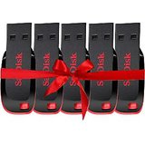 Pack of 5 Sandisk 8GB Cruzer Blade Pen Drive