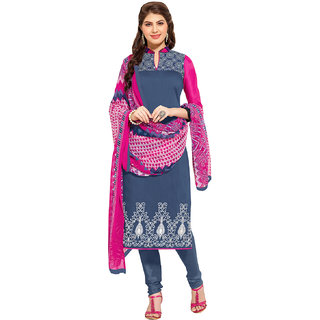 Lovely Look Dark Grey Embroidered Un Stitched Straight Suit LLK9DRM48