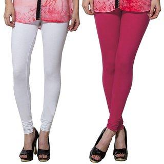 Both11 Multi Color Cotton Lycra Casual Legging (Set Of 2) (B11-DB-1-8)