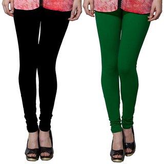 Both11 Multi Color Cotton Lycra Casual Legging (Set Of 2) (B11-DB-2-12)