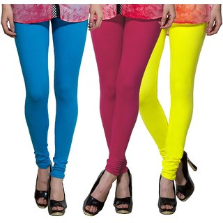 Both11 Multi Color Cotton Lycra Casual Legging (Set Of 3) (B11-TP-7-8-19)