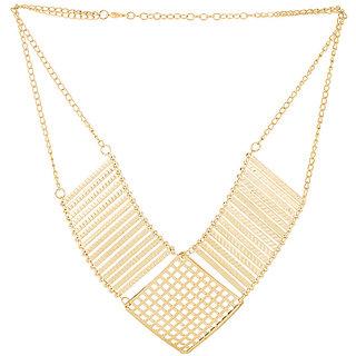 Statement Necklace Featuring Geometric Golden Dazzle