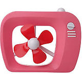 Mini TV Air Fan with soft blades USB & Battery Operated
