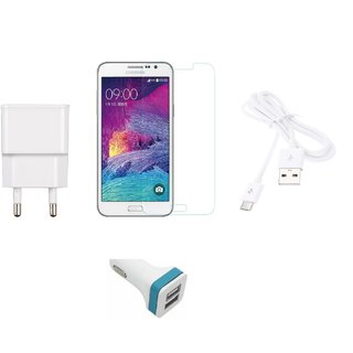 High  QualityTempered Glass +2.0 Amp USB Charger + USB Cable + USB Car Charger  Compatible with  Samsung Galaxy J7