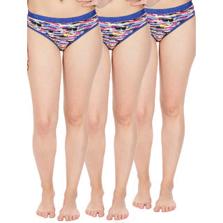 pure cotton panty / panties brief (pack of 3 ) printed multi colour geometric print / printed