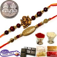 Set Of 2 Designer Rakhi For Brother Raksha Bandhan Gift Set
