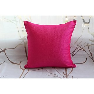 The Home Addiction Damask Cushions Cover (40 Cm40 Cm, Pink)