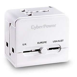 CyberPower (TR01WSUA0-UN-W) Smart Travel Adapter With USB Port (1 Year Warranty)