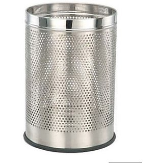 Sai Enterprises Catering - Perforated (8x12) Stainless Steel Dustbin