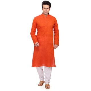 RG Designers Orange Kurta pyjama Set