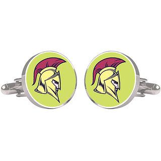 CuffTank Cufflinks Spartan Helmet