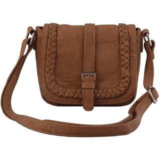 Lychee Bags Elle Beige P.U. Sling Bag