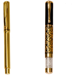 Hayman 24 Ct Gold Plated Designer Roller Ball Pen With Box - Buy 1 Get 1 Free