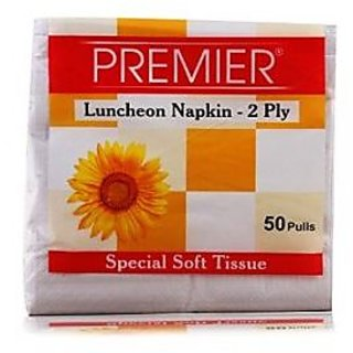 Premier Luncheon Napkins 50 Pulls 2 Ply (Pack of 8)