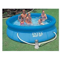 An inflatable pool INTEX Easy Set Pool with pump-filter 305h 76 cm