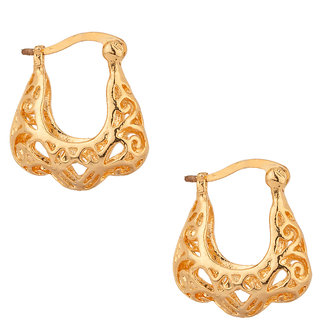 Gold Plated Studs With Impressive Cut-Work