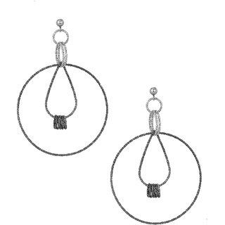Rings Delight: Earrings with Dangling Nine Circular Rings