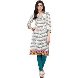 Prakhya Printed Womens Long Straight cotton kurta-SW660PURPLEBLACK