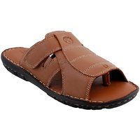 Ventoland MenS Tan Slip-On Sandals (GWVLS-0242A)