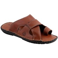 Ventoland MenS Tan Slip-On Sandals (GWVLS-0302)