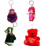 Barbie And Teddy Keychain Combo Pack - 4pcs