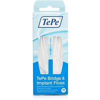 Tepe Bridge And Implant Floss - 30 Pack (Pack Of 30)