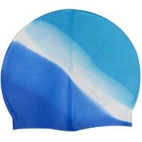 LionsLand Blue White Full Head Cover Men and Women Silicon Swimming Cap Free Size Swim02