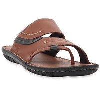 Ventoland MenS Tan Slip-On Sandals (MPVLS-0262)