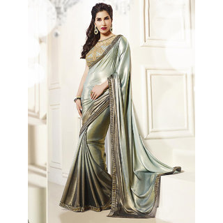 Thankar Grey Thredwork Georgette Saree