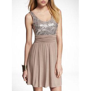 Schwof Women Crepe Shimmer Top Dress