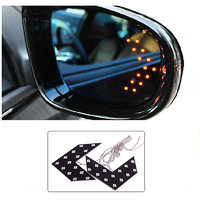 2 Pcs LED Arrow Panel light For Car Rear View Mirror Indicator Turn Signal Yellow
