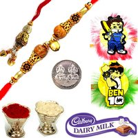 Family Rakhi Set Bhaiya Bhabhi & 2 Kids Rakhi Gift Set