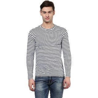Hypernation Striped Men Round Neck T-shirt