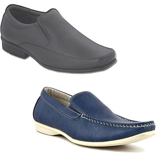 Kewl Instyle Men's Black & Blue Lifestyle Casual Shoes [CLONE]