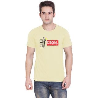 TantraCheaper Than Petrol - TA Cream Crew Neck T-Shirt for Men
