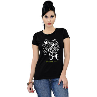 Tantra Om Tree - LT Multicolour Round Neck Longtees for Women