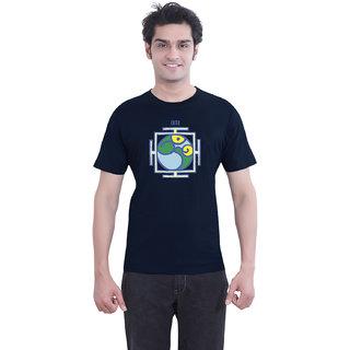 TantraYantra Om - TA Navy Blue Crew Neck T-Shirt for Men