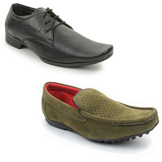 Kewl Instyle Men's Black & Green Lifestyle Casual Shoes [CLONE]