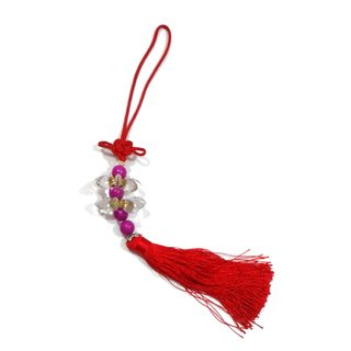 Attractive Crystal flower beads Amulet car door wall hanging
