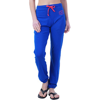 Wake UP Competition Royal Blue Solid Women Track Pant for Summer Season