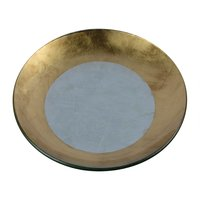 Glass Plate W/Gold&Silver Foil Finish