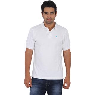Wrangler White Colored Polo T-Shirt For Men