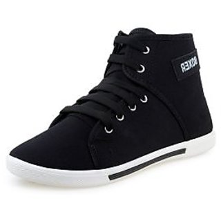 Chevit Mens Black Lace-up Sneakers