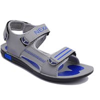 Nexa Grey And Blue Floater Sandals