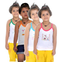 Lilsugar Girls Camisole With Fluorescent Neck