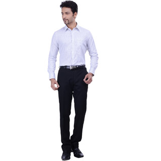 Validus Formal Plain Full Sleeve Blue Shirt